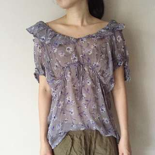 ZARA Ladies Floral Top