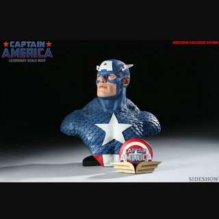 Sideshow Captain America Legendary Scale Bust Exclusive