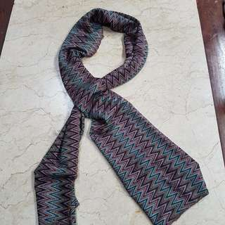 Scarf With Zigzag Motive