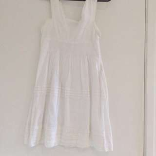 WISH White Summer Dress