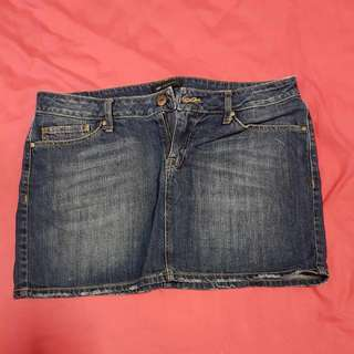 Mango Denim Short Skirt