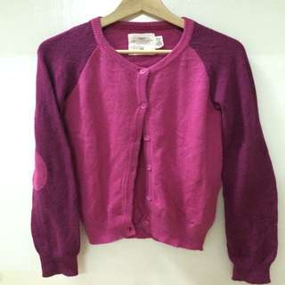 H&M桃紅針織外套
