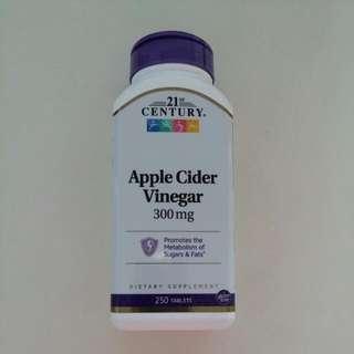 21st Century Health Care Apple Cider Vinegar 蘋果醋 300 mg 250 粒