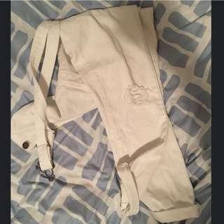 White Denim Overall