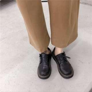 復古著駝咖啡色寬褲