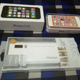 Iphone 5S 16GB Itouch 6TH GEN 32GB POWERBANK 2000 BRAND NEW PM FOR PRICE. ORIGINAL