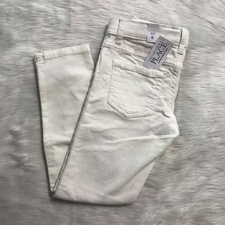 Children's Place Girls Pants White Size 6, NWT!