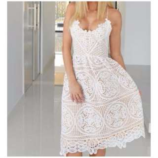 Twosister's The Label Lace ANNABELLE DRESS (WHITE) Size 12