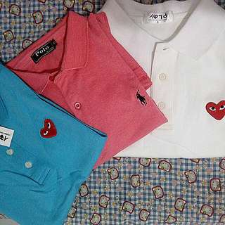 Comes De Garcons Play And Ralph Lauren Polo Shirt (Not For Sale as Pack)