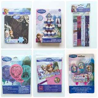 Lots of party goodies - Frozen, Hello Kitty, Jungle Animals, Monsters Inc, Shinkansen and more!