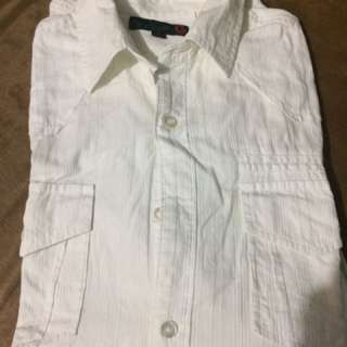 Authentic Guess White Long Sleeved Polo