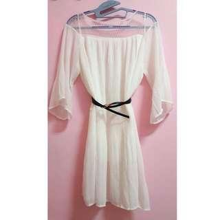 蕾絲 浪漫 寬袖 氣質洋裝