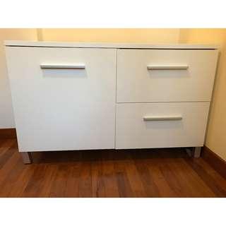 Designer Oliver B Casa Italia Storage Unit White High Gloss ( Retail around SG800)