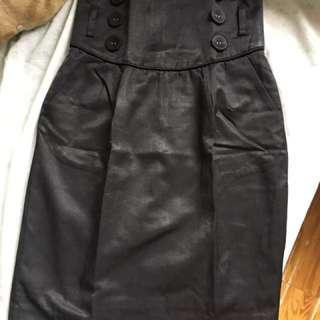 High Waist Black Office Skirt