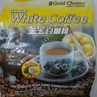 馬來西亞金寶榴槤白咖啡,15包入