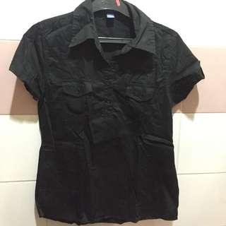 Kemeja Hitam Pekat Black Shirt