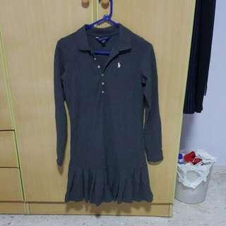 Polo Ralph Grey Dress Size 150