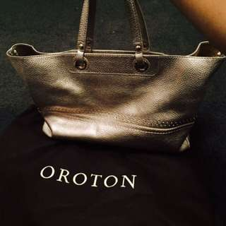 Oroton Gold Medium Handbag