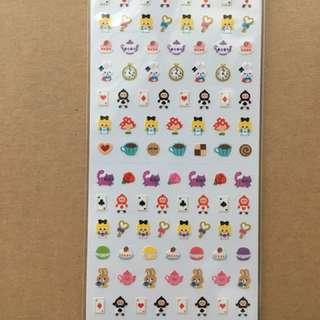 日本製貼紙 愛麗絲 / 相撲 / 企鵝 超可愛貼紙 文具 手帳必備 手帳貼紙 sticker 迪士尼 Alice