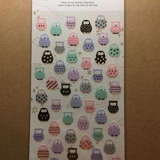 貓頭鷹貼紙 櫻花貼紙 sakura 合紙 日本帶回 手帳必備 手帳貼紙 現貨