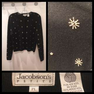 Size P/L - Jacobson's - Beaded embellished cardigan