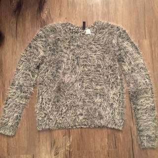 H&M fur sweater