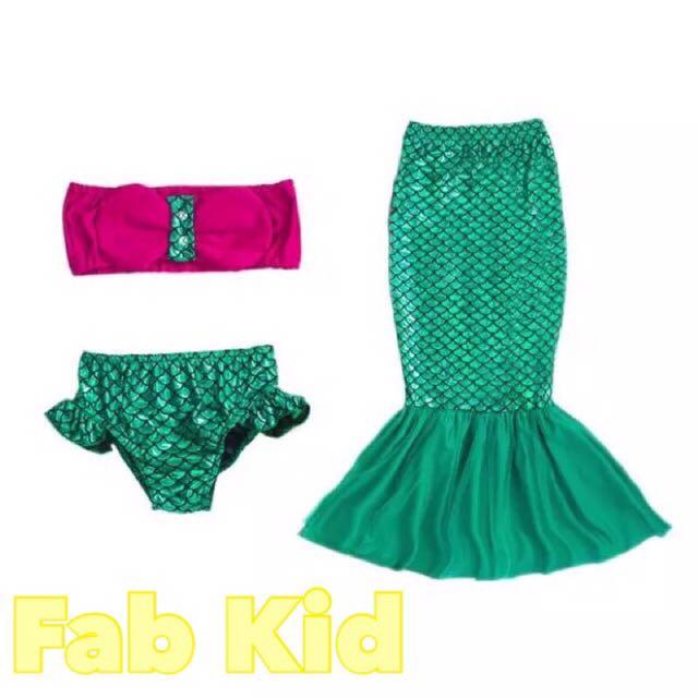 超夢幻美人魚三件組泳衣(預購)