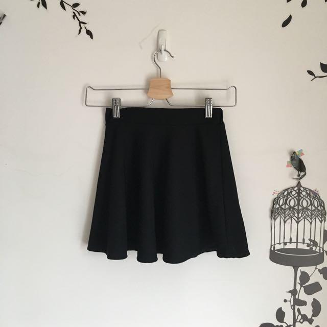 斜紋布黑裙