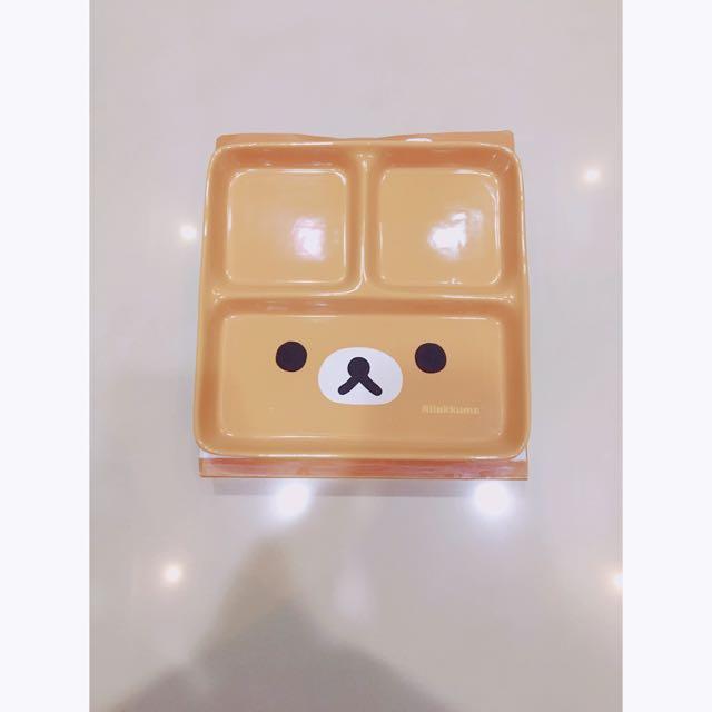 拉拉熊 大臉款美味陶瓷大方格盤