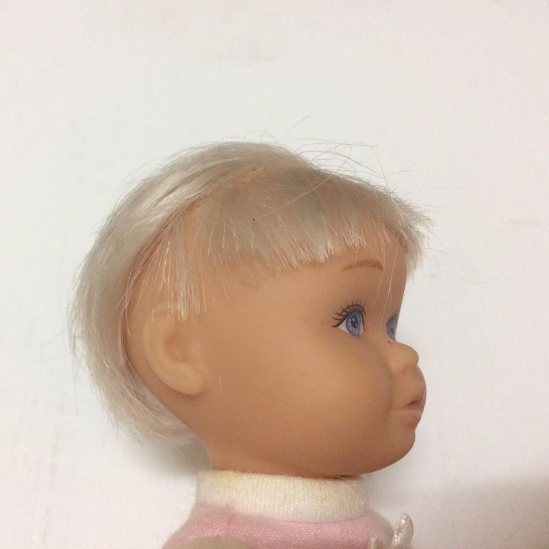 早期 懷舊 復古 古董 [2001 Mattel miracle baby] 北鼻 洋娃娃 軟膠