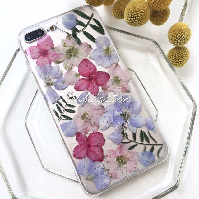 繡球飛燕手做 文創 手機殼 押花 Iphone6 Iphone6plus Iphone7