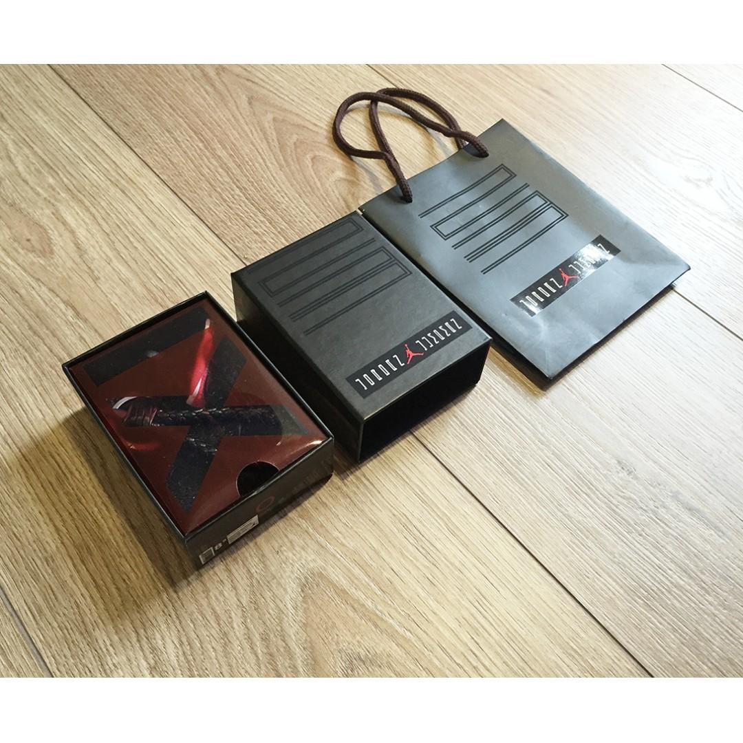 Jordan x BV 質感 設計 鑰匙圈 編織皮繩 球鞋 立體鞋子 紙袋 11代 黑紅 AJ11