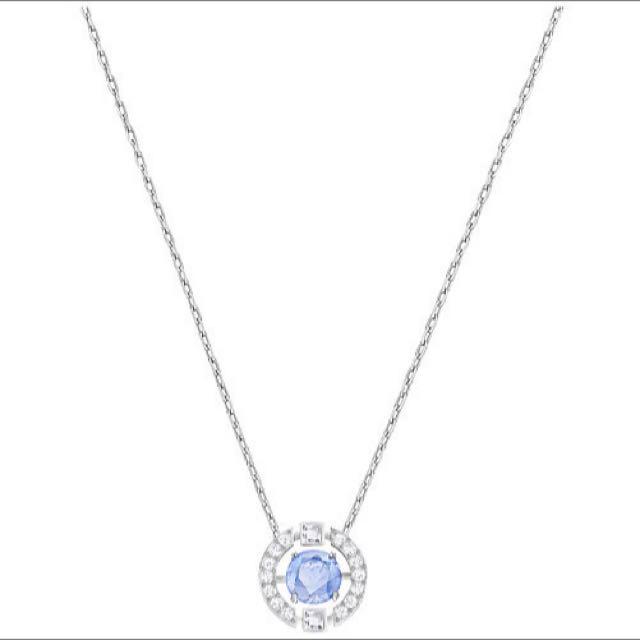 全新 SWAROVSKI 施華洛世奇 躍動的藍水晶項鍊