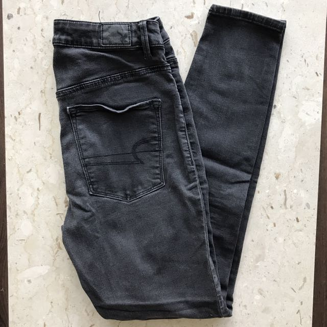 AE Washed Black High Wasted Jeggings
