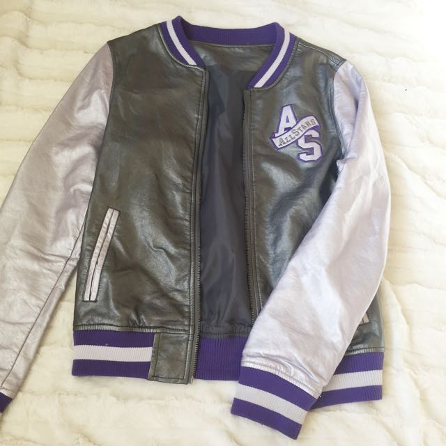 All Star Leather Bomber Jacket
