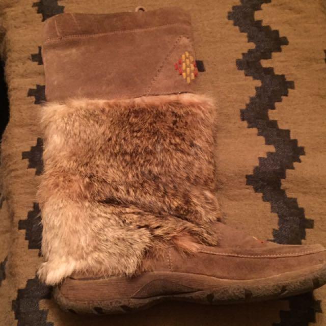Authentic Rabbit Fur Shoes
