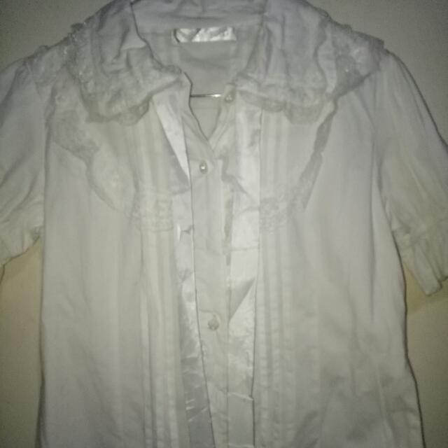 Baju Kerja Wanita Warna Putih Cantik