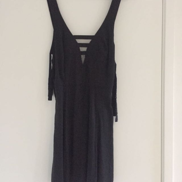 Black Strapped Back Dress