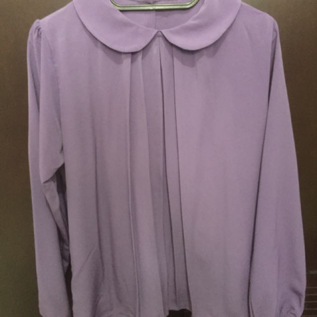 Blouse Collar Ungu