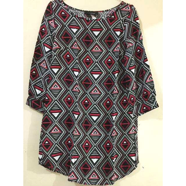 Blouse Tribal Red Black Color