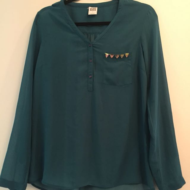 Blouse With Diamonte