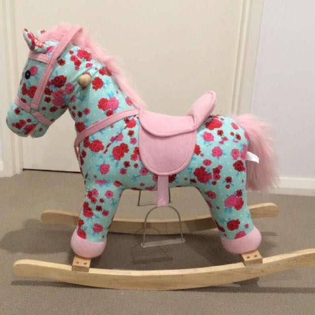 Blue And Pink Rocking Horse