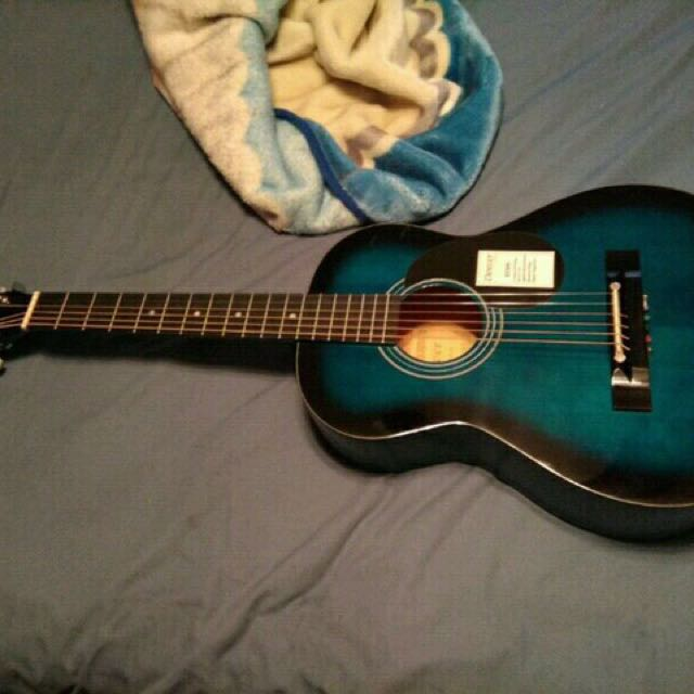 Blue Denver Guitar
