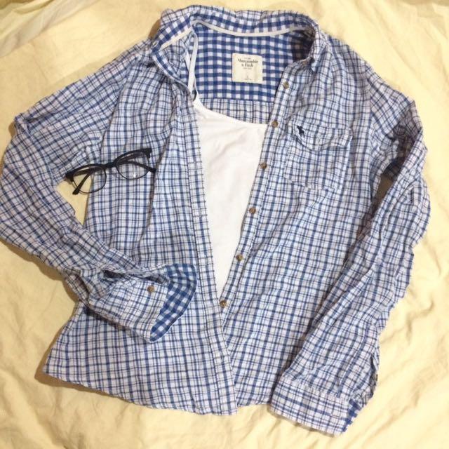 Blue Plaid Shirt (Abercrombie & Fitch)