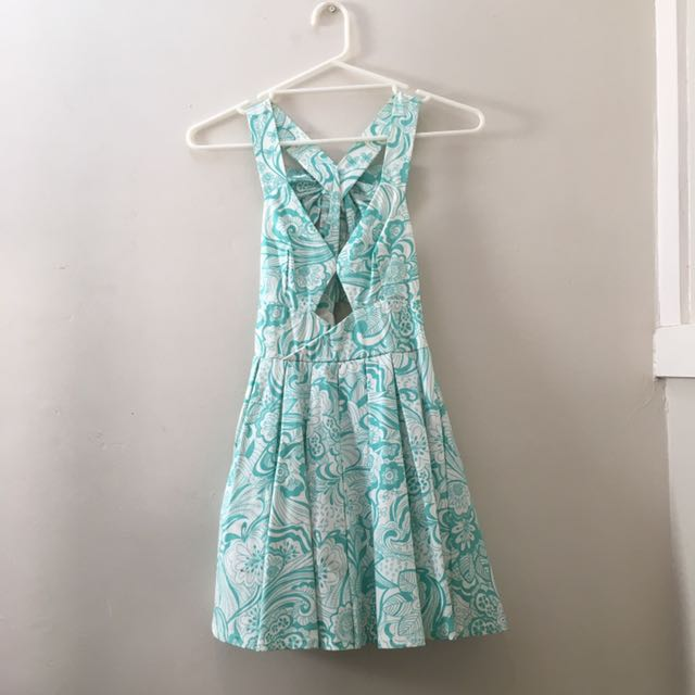 Blue/Green Patterned Dress