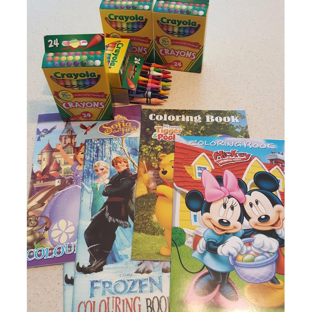 BN Crayola Crayons 24 Count Kids Party Supplies