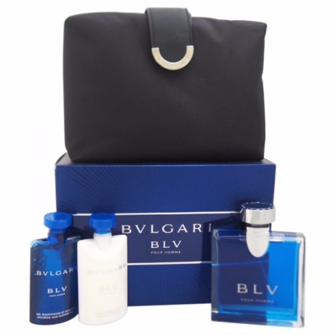 Bvlgari Blv Pour Homme 3 Pcs Giftset With Pouch Produk Badan Dan Blue Men Edt 100ml Kecantikan Lain Di Carousell