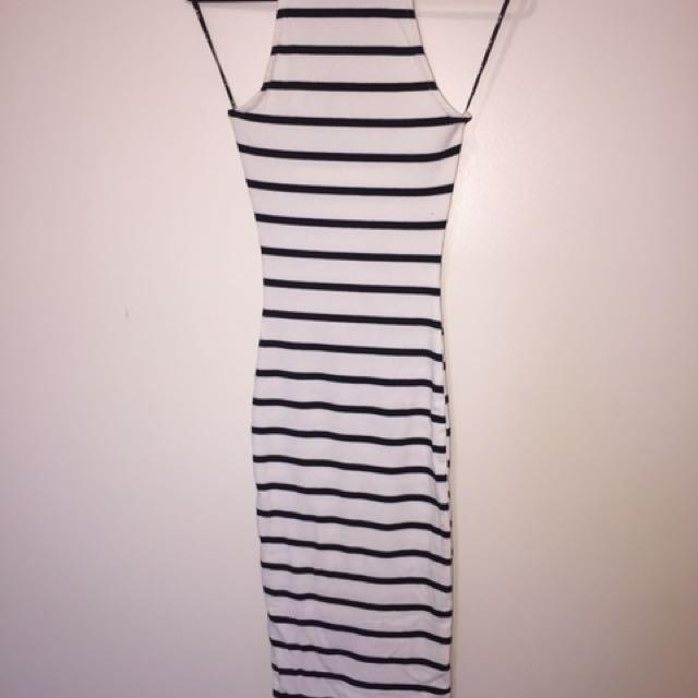 Chic-a-booti Stripy Bodycon Dress