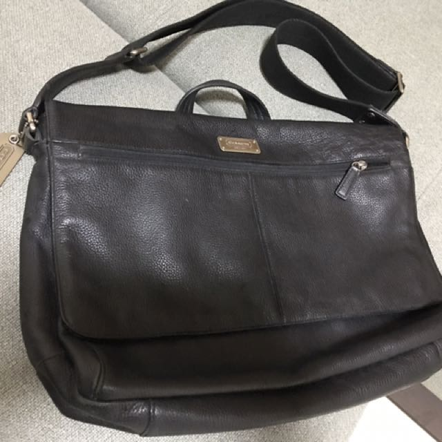 be34eeb4abf8 COACH Black Business Bag (Special Pig Skin)