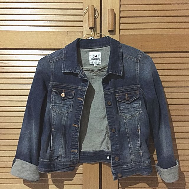 Colorbox Crop Denim Jacket